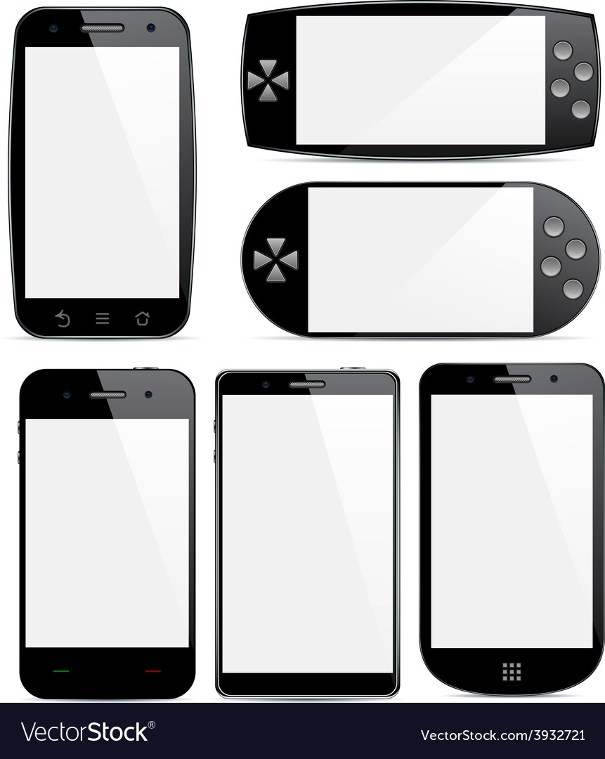 Set of smartphone concepts vector | Price: 1 Credit (USD $1)