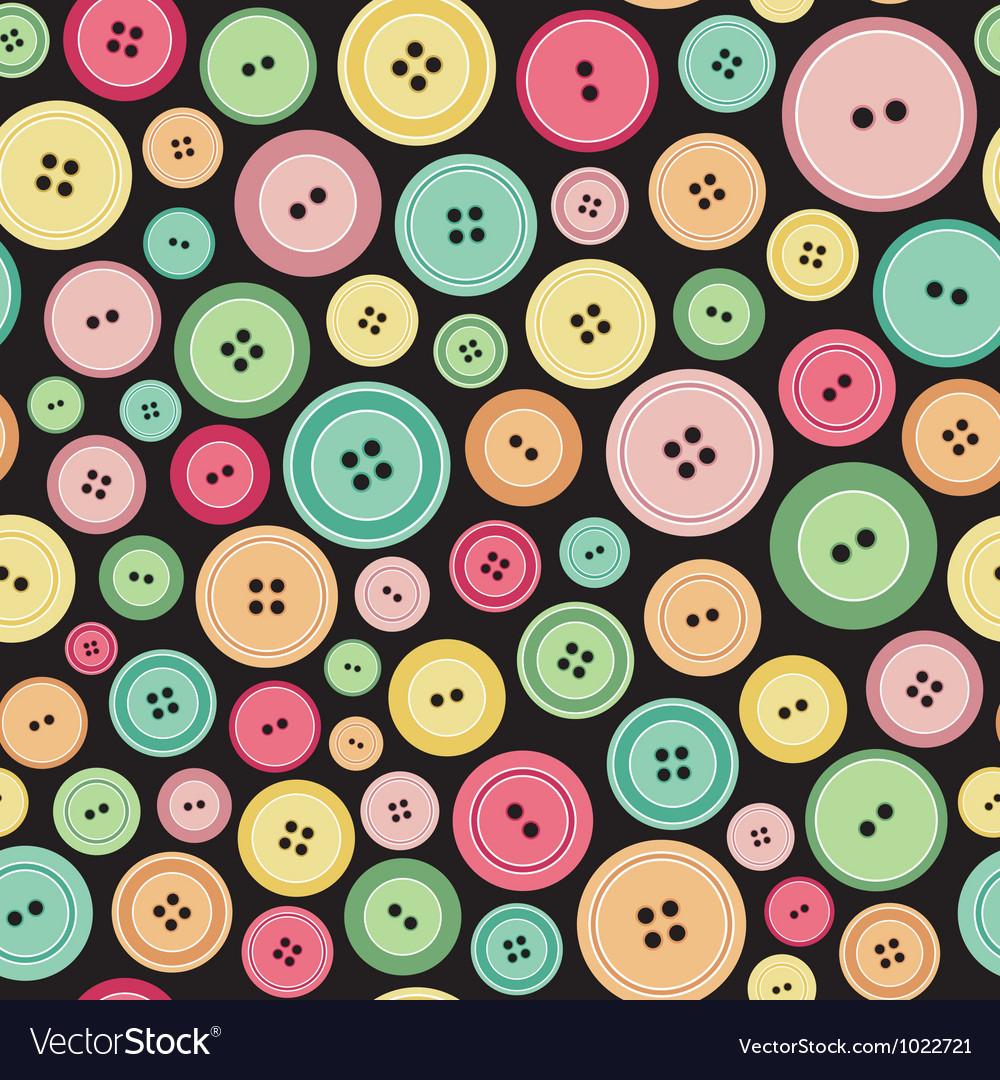 Sewing buttons as seamless pattern vector | Price: 1 Credit (USD $1)