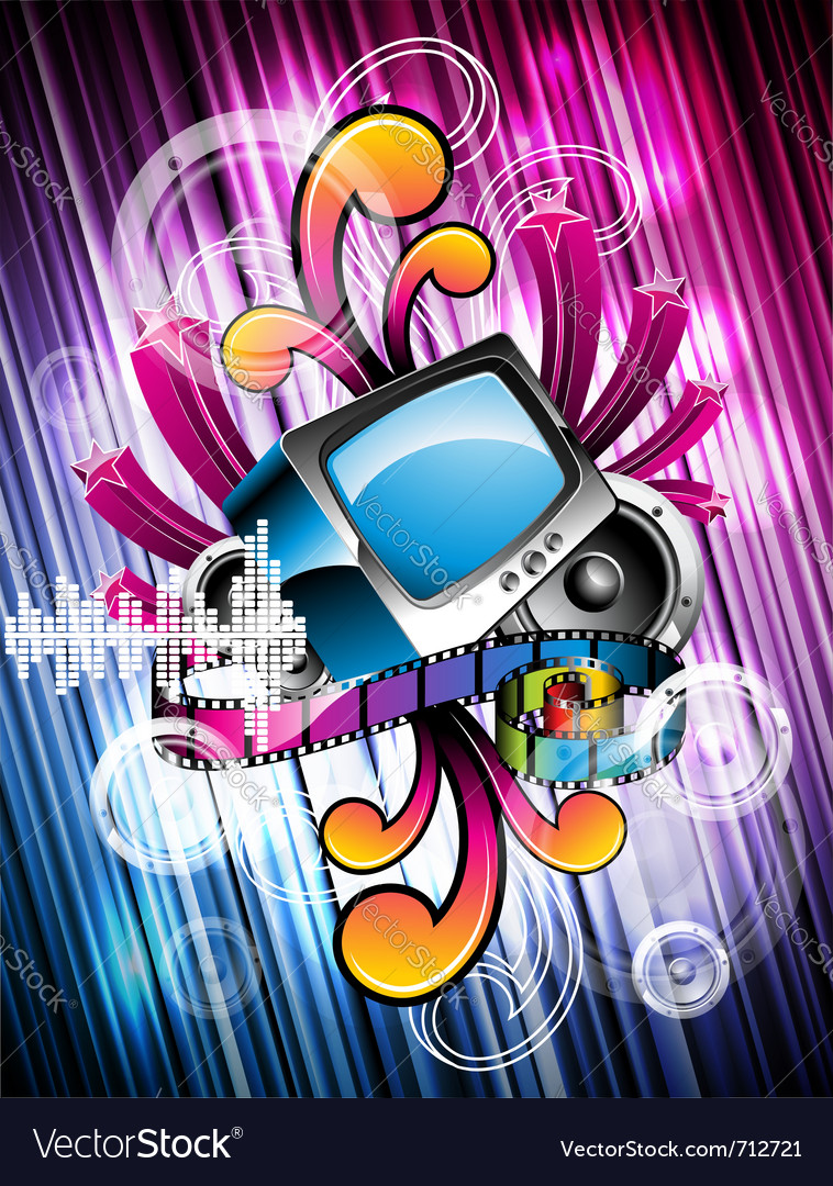 Shiny background with speakers vector | Price: 1 Credit (USD $1)