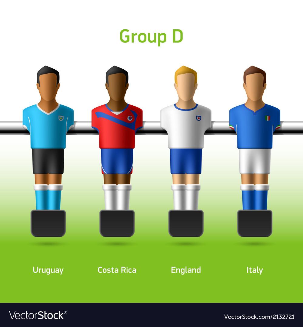 Table football foosball players vector | Price: 1 Credit (USD $1)