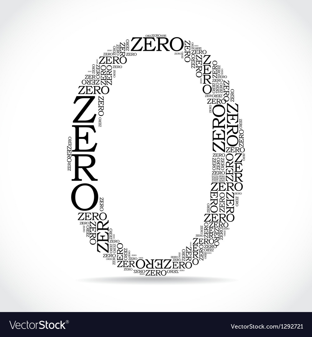 Zero sign created from text vector | Price: 1 Credit (USD $1)
