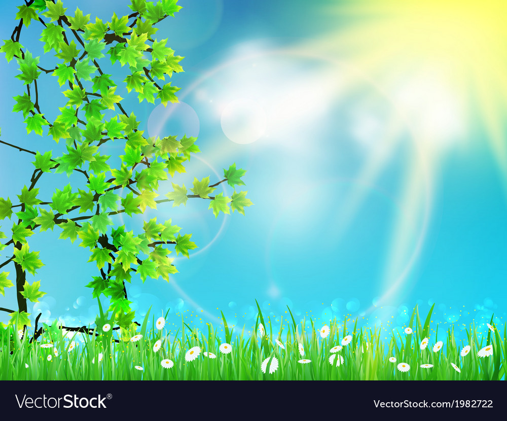 Abstract green natural background vector | Price: 1 Credit (USD $1)