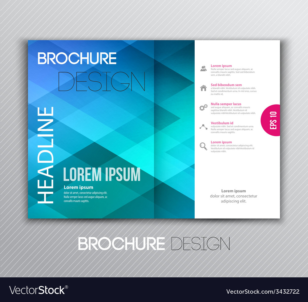 Abstract template brochure design with geometric vector | Price: 1 Credit (USD $1)