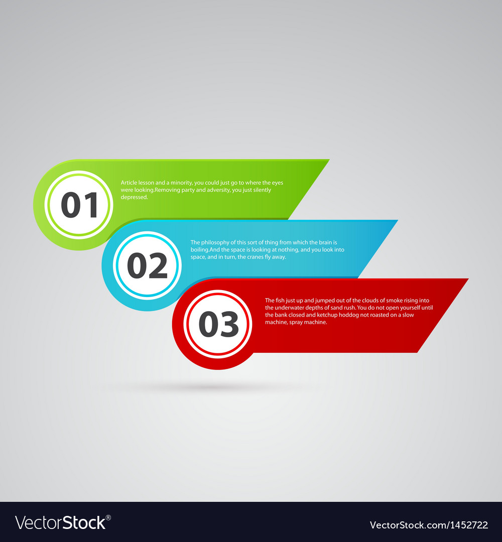 Arrow color template with numbers vector | Price: 1 Credit (USD $1)
