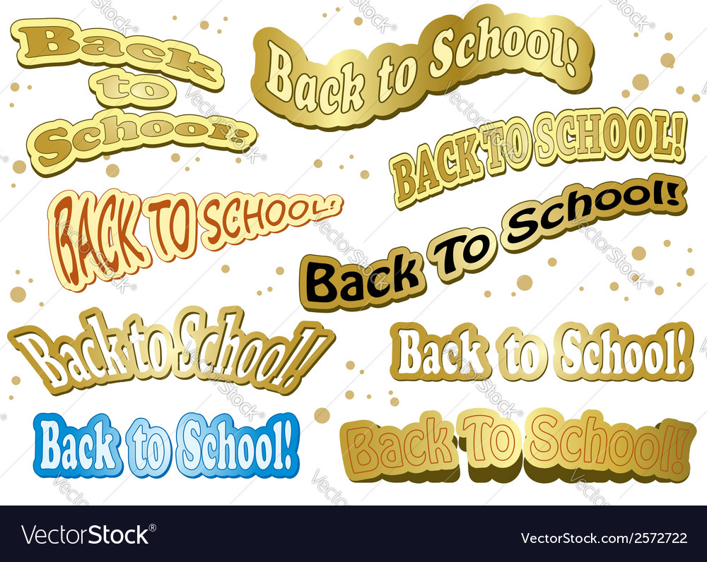 Back to school - stickers vector | Price: 1 Credit (USD $1)