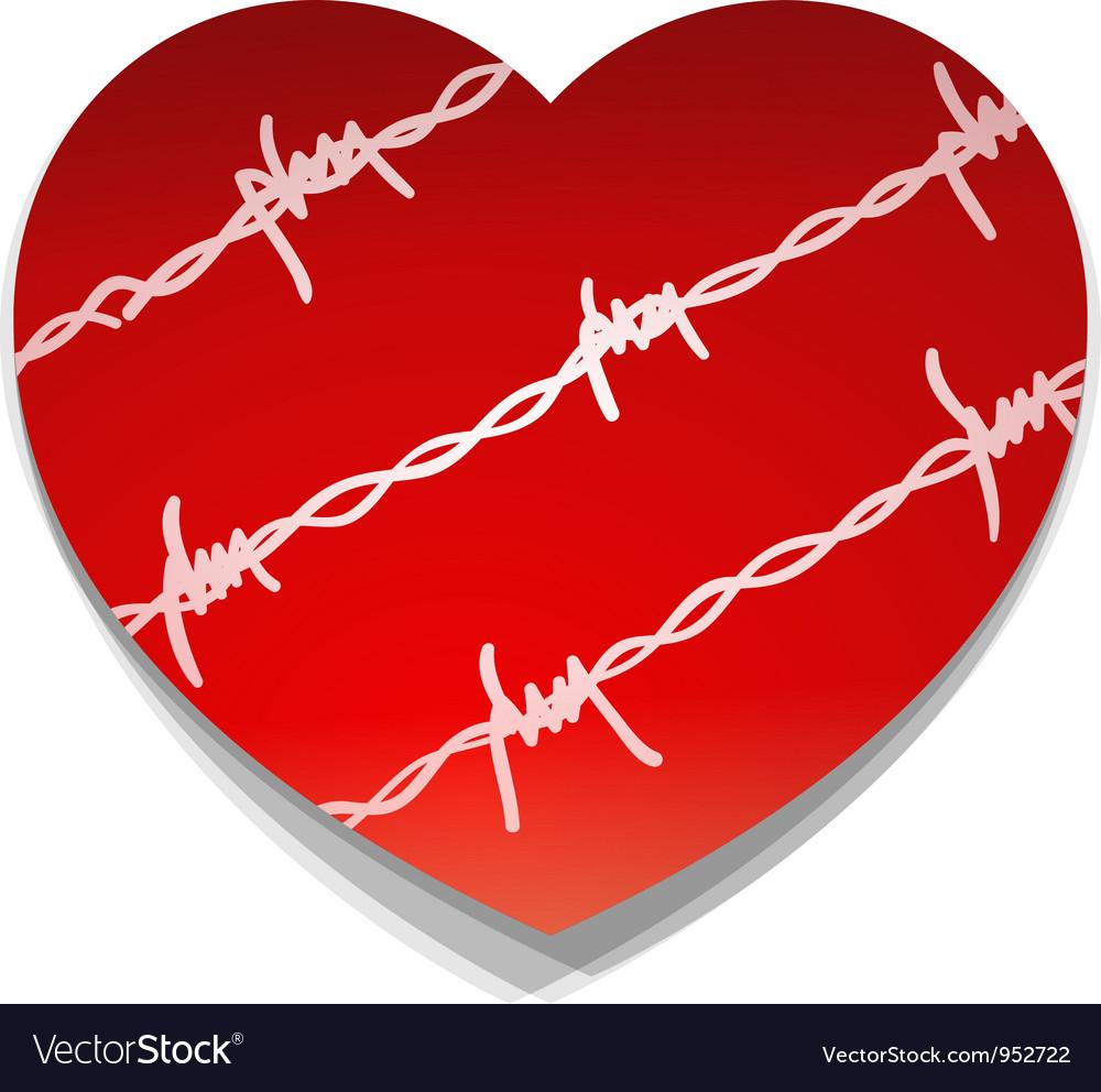 Barbwire love heart vector | Price: 1 Credit (USD $1)