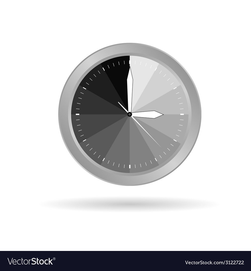 Clock grey vector | Price: 1 Credit (USD $1)