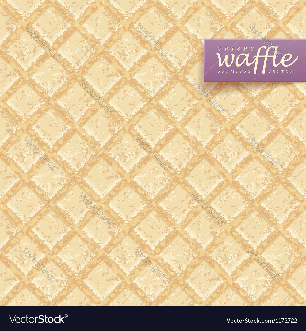 Crisp waffles pattern vector | Price: 1 Credit (USD $1)
