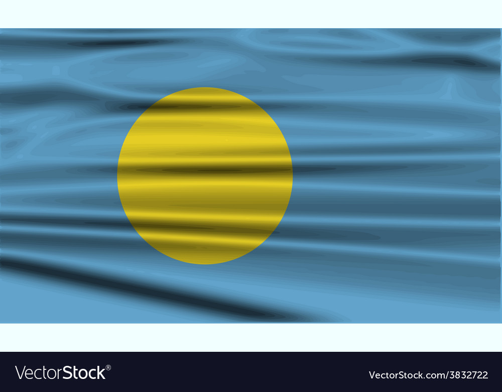 Flag of palau with old texture vector | Price: 1 Credit (USD $1)