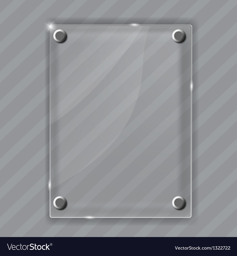 Glass frame on abstract metal background vector | Price: 1 Credit (USD $1)
