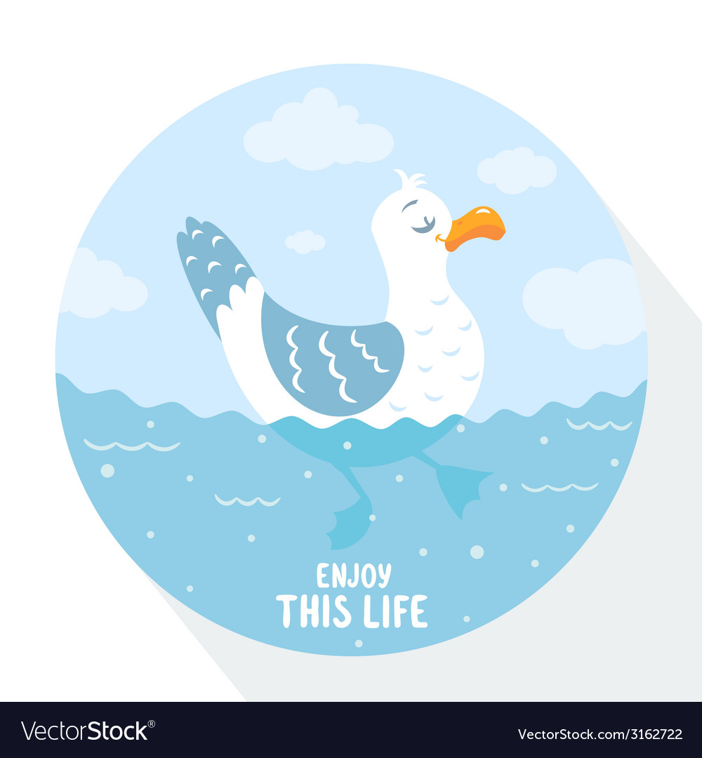 Gull flat vector | Price: 1 Credit (USD $1)