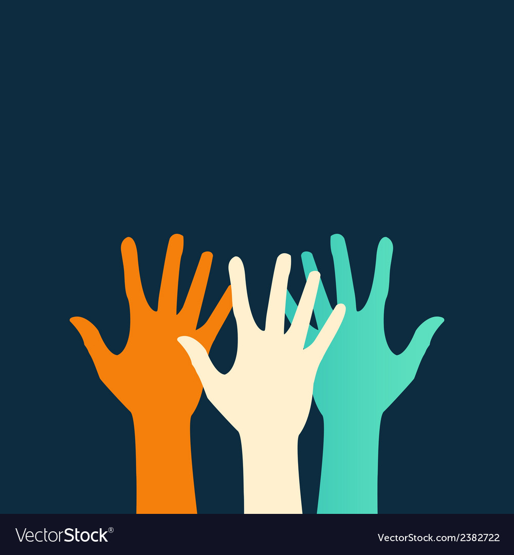 Hands color abstraction eps vector   Price: 1 Credit (USD $1)