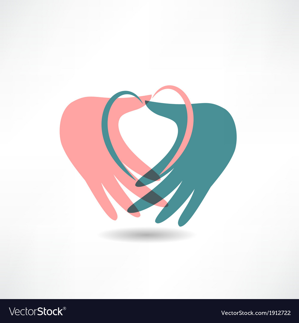 Love for others icon vector | Price: 1 Credit (USD $1)