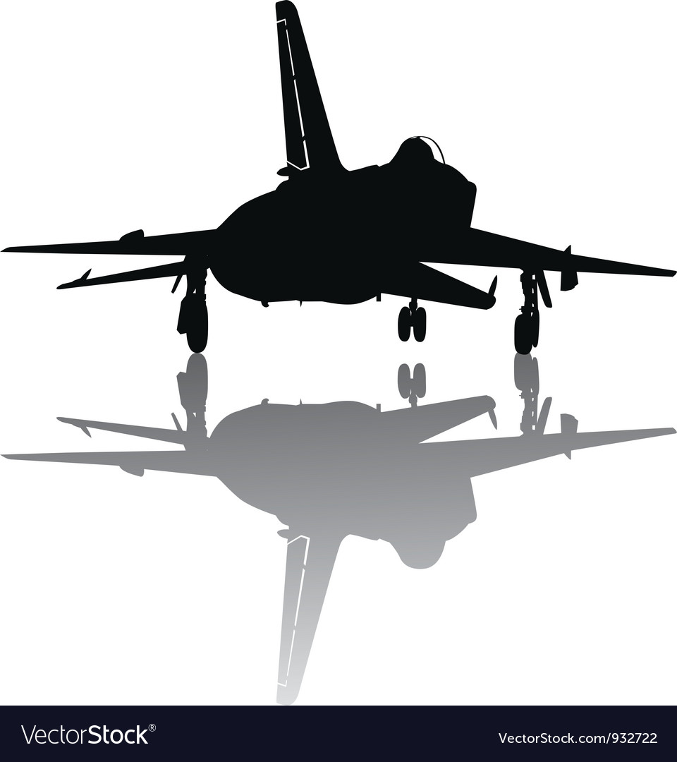 Military plane take off vector | Price: 1 Credit (USD $1)