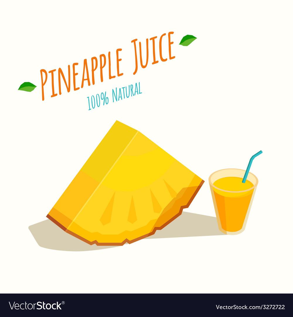 Pineapple juice vector | Price: 1 Credit (USD $1)