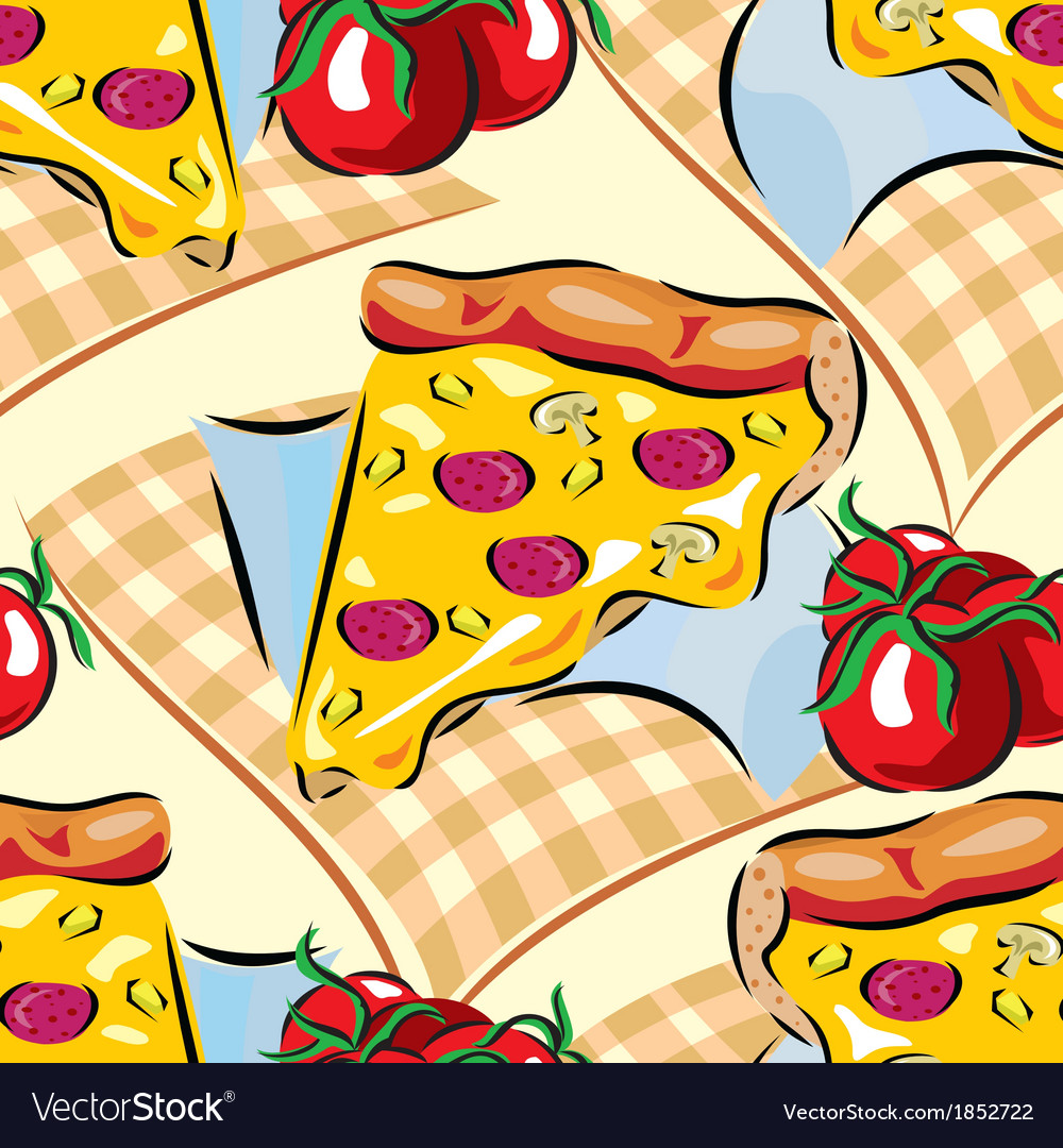 Pizza seamless vector | Price: 1 Credit (USD $1)
