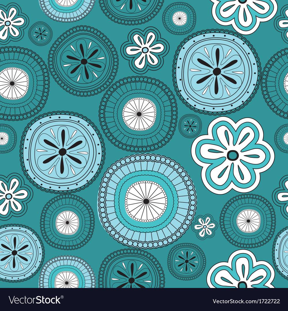 Seamless flower retro background vector | Price: 1 Credit (USD $1)