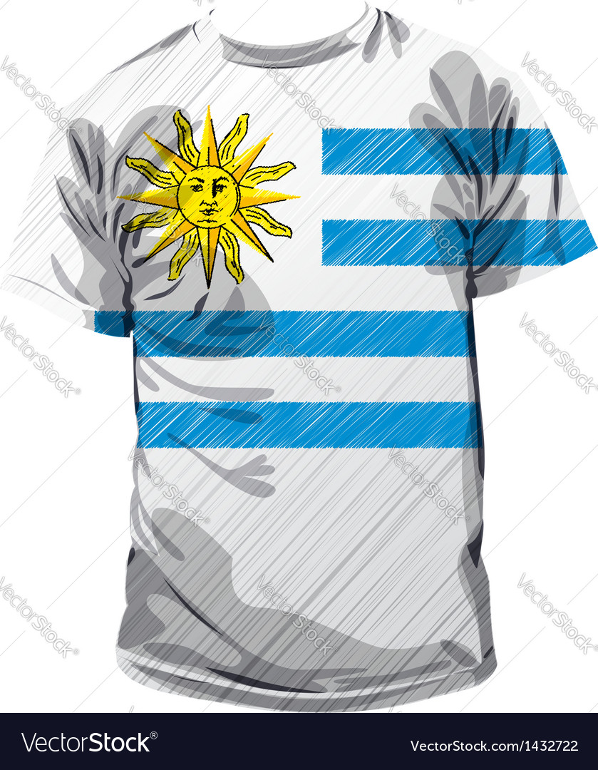 Uruguayan tee vector | Price: 1 Credit (USD $1)