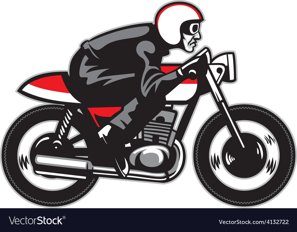 Vintage motorbike ride vector | Price: 3 Credit (USD $3)