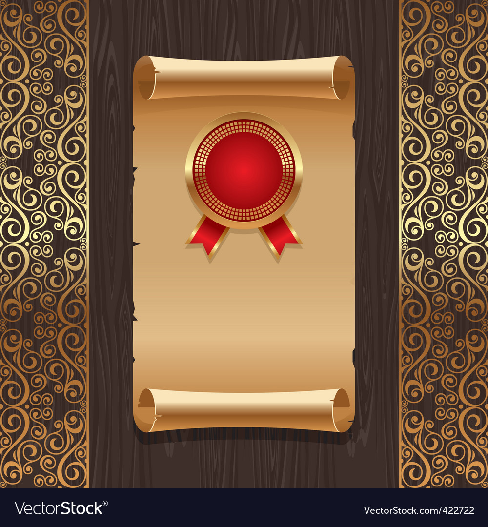 Vintage paper scroll vector | Price: 3 Credit (USD $3)