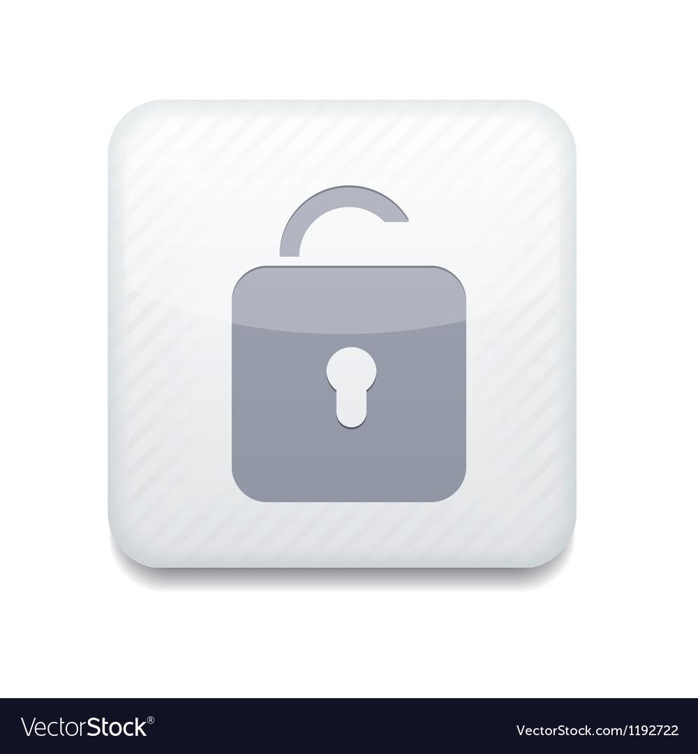 White unlock icon eps10 easy to edit vector   Price: 1 Credit (USD $1)