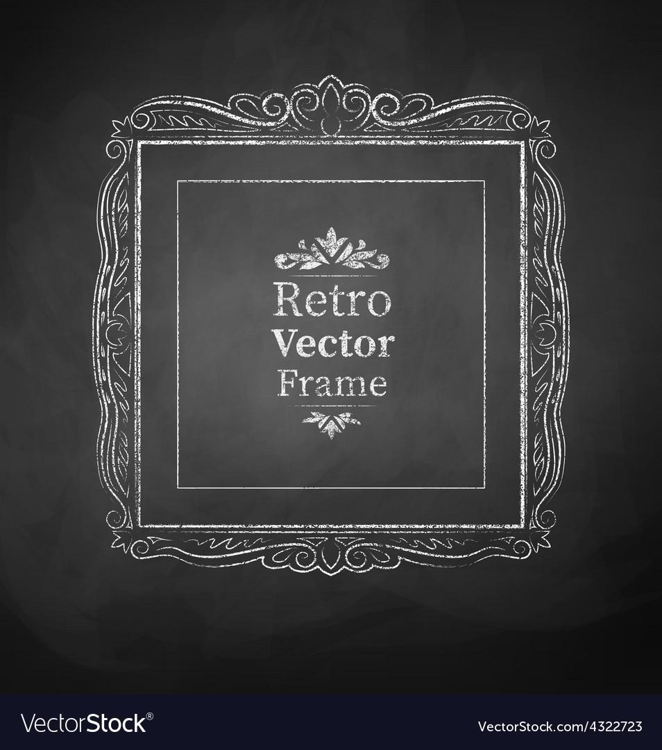 Chalked vintage baroque frame vector | Price: 1 Credit (USD $1)