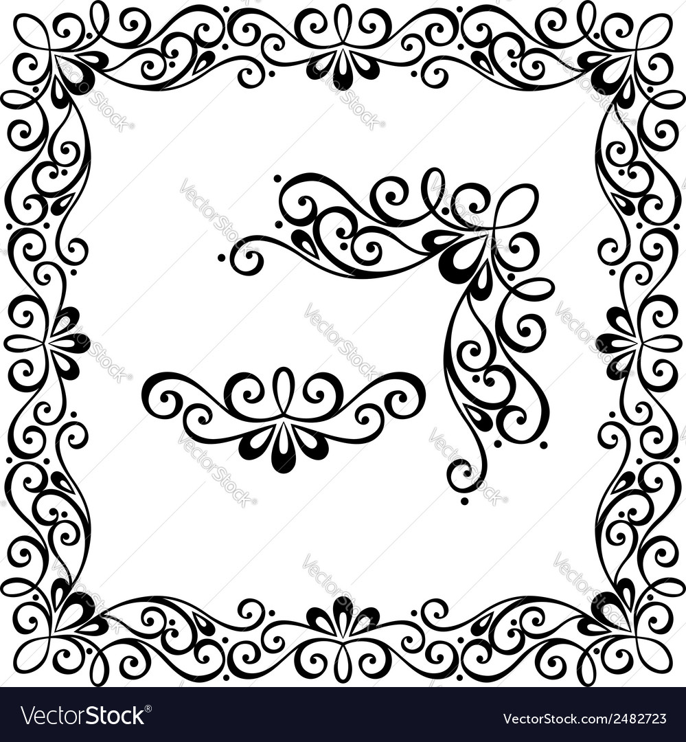 Decorative ornate frame vector | Price: 1 Credit (USD $1)