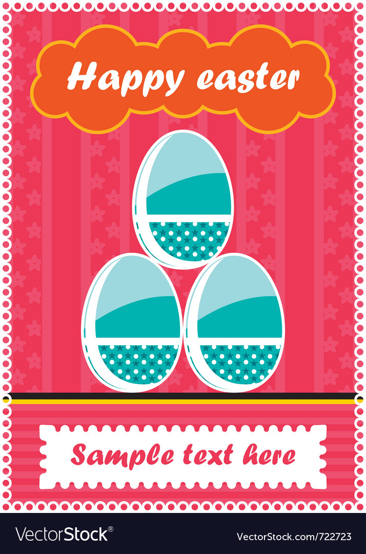 Easter postcard vector   Price: 1 Credit (USD $1)