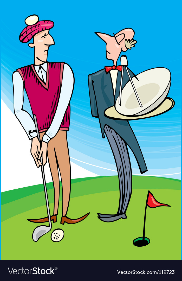 Lord playing golf vector | Price: 3 Credit (USD $3)