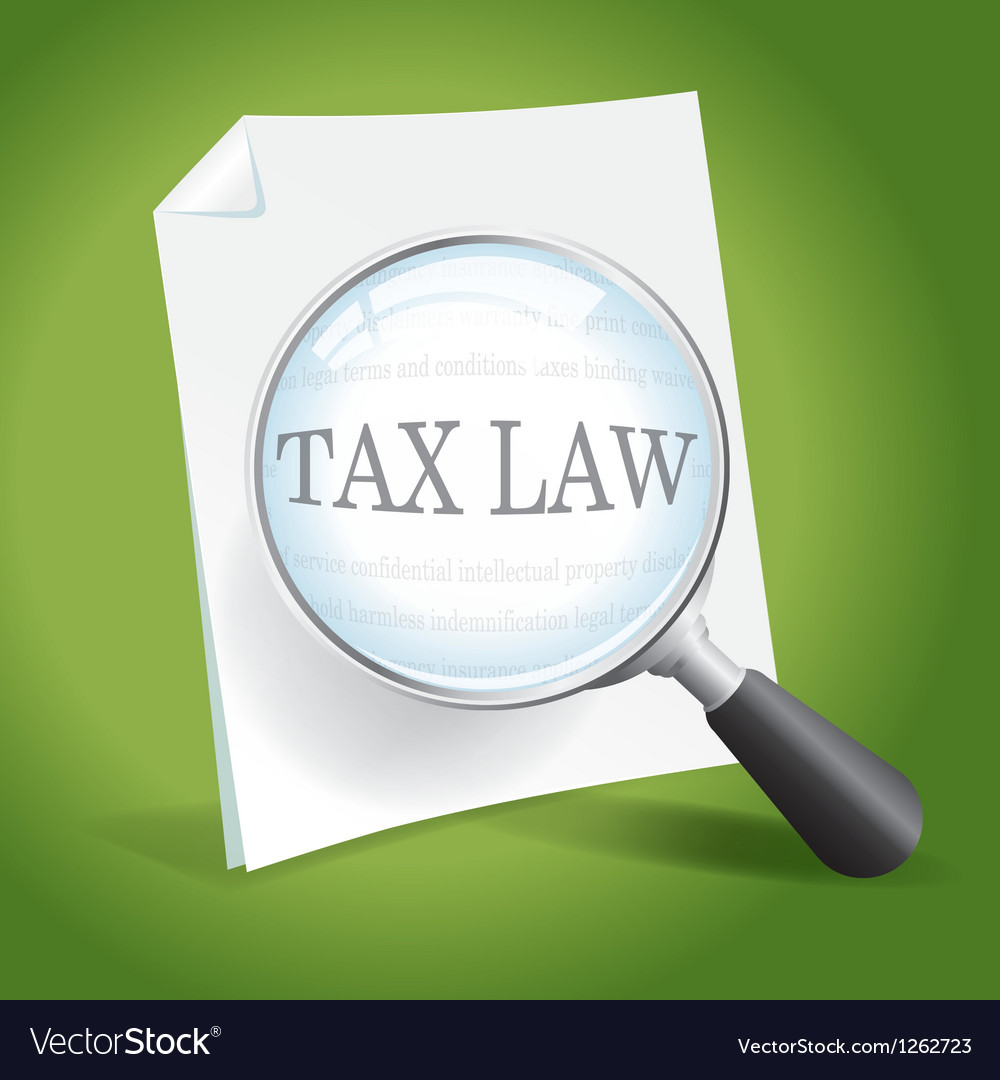 Reviewing tax law vector | Price: 1 Credit (USD $1)