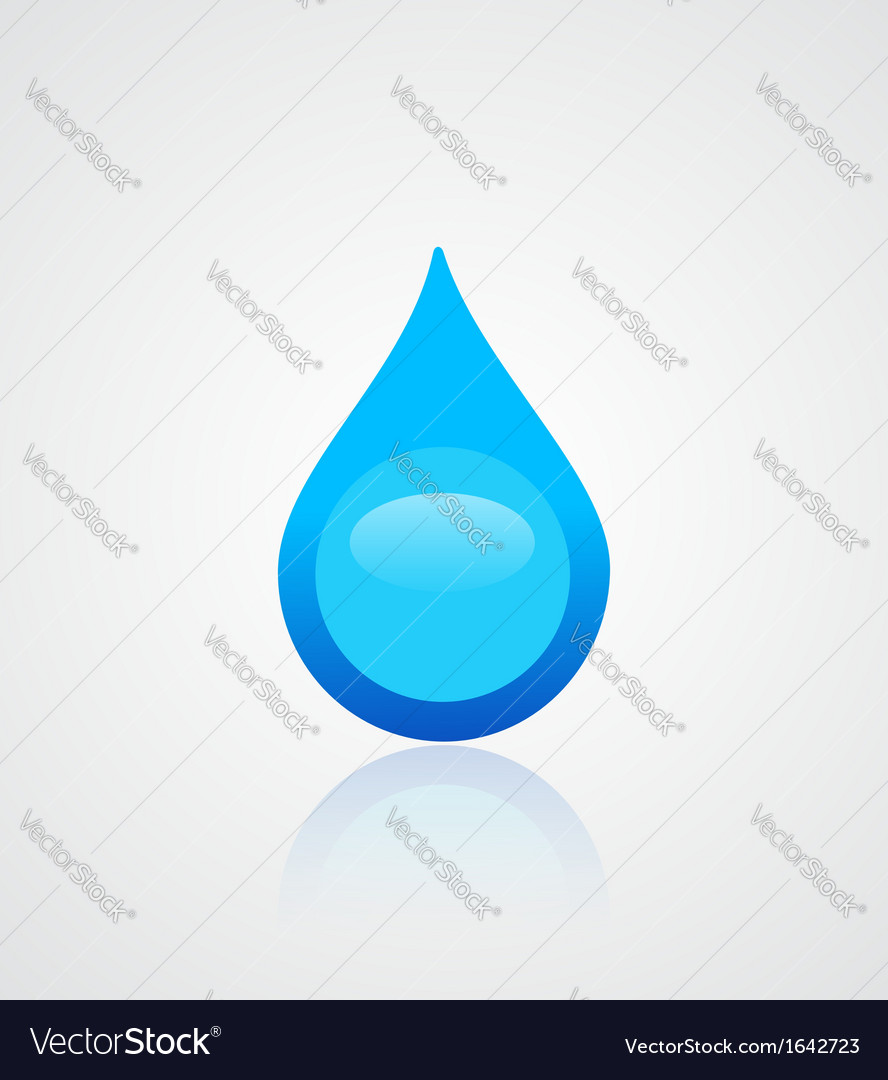 Water drop emblem vector | Price: 1 Credit (USD $1)