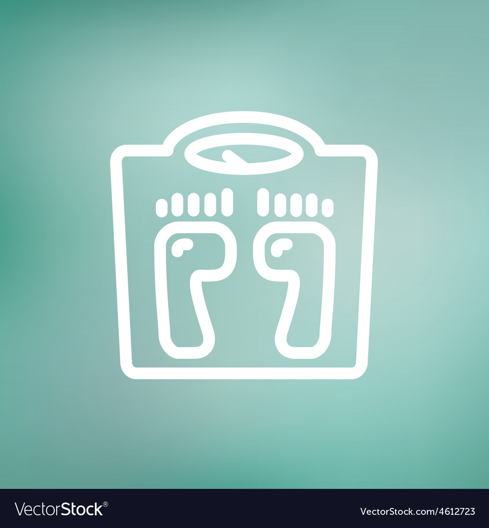 Weighing scale thin line icon vector | Price: 1 Credit (USD $1)