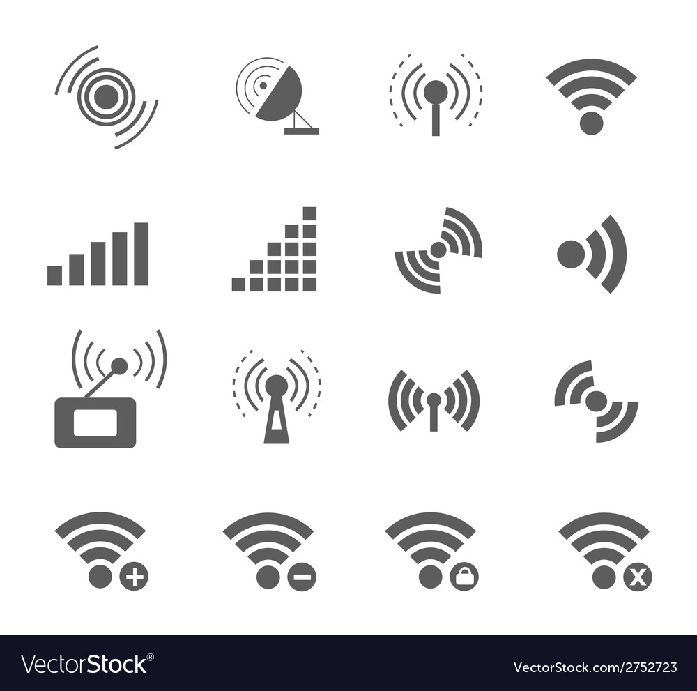 Wireless and wifi icons vector | Price: 1 Credit (USD $1)