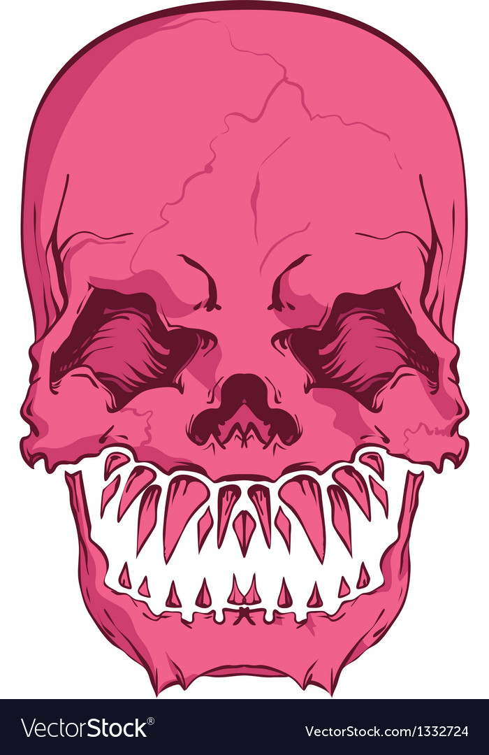 Aggressive skull vector | Price: 1 Credit (USD $1)