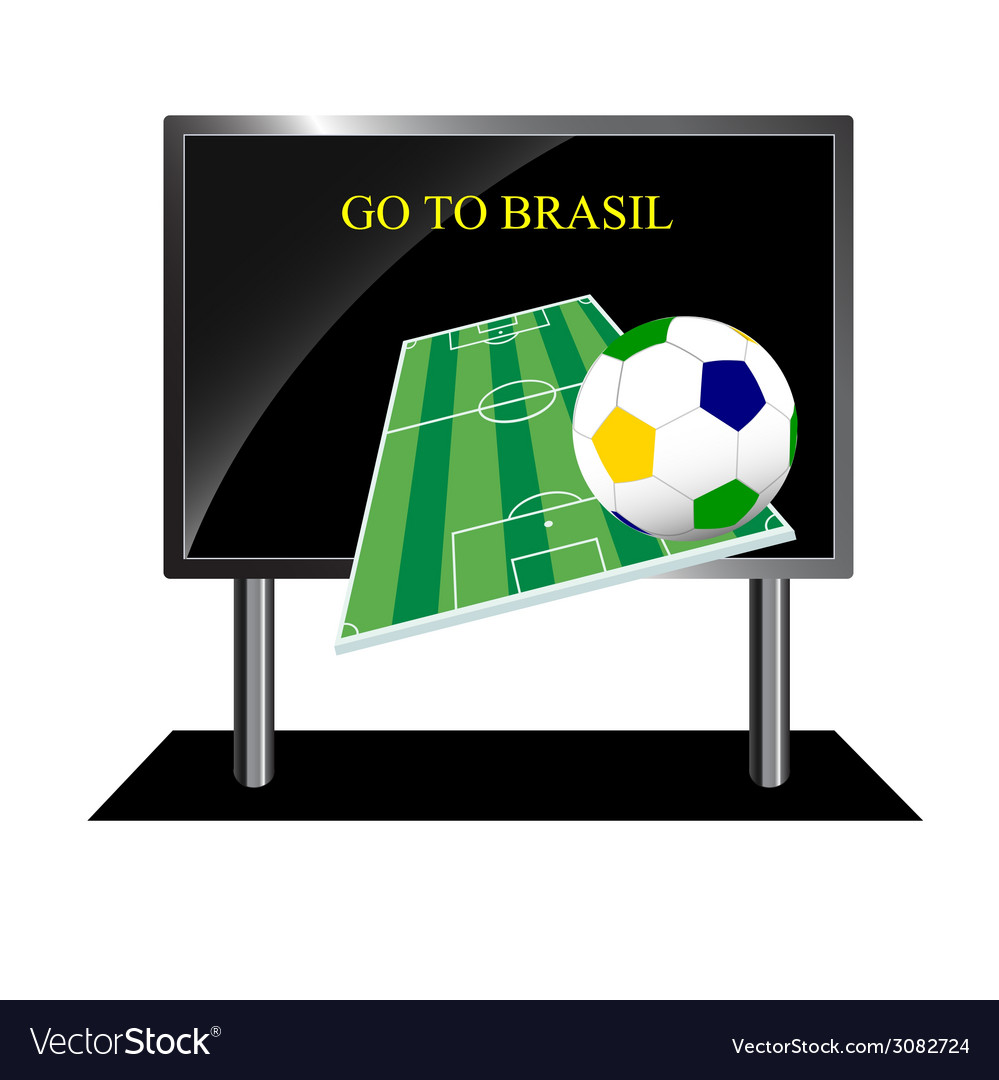 Bollboard with message of football vector | Price: 1 Credit (USD $1)