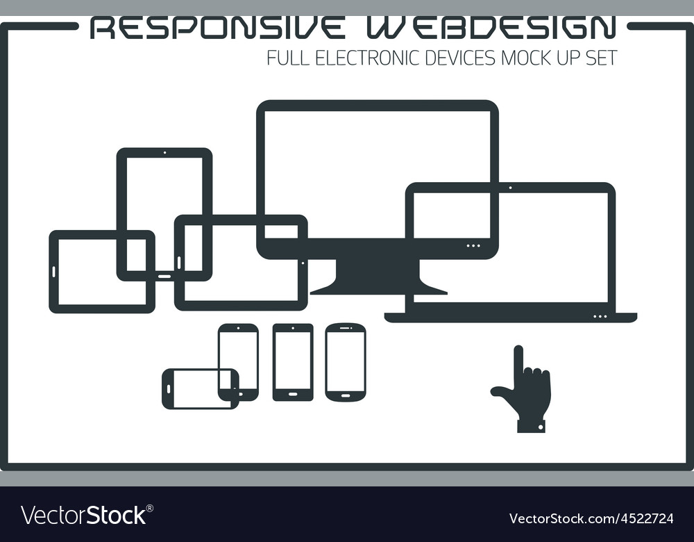Flat responsive design kit vector | Price: 1 Credit (USD $1)