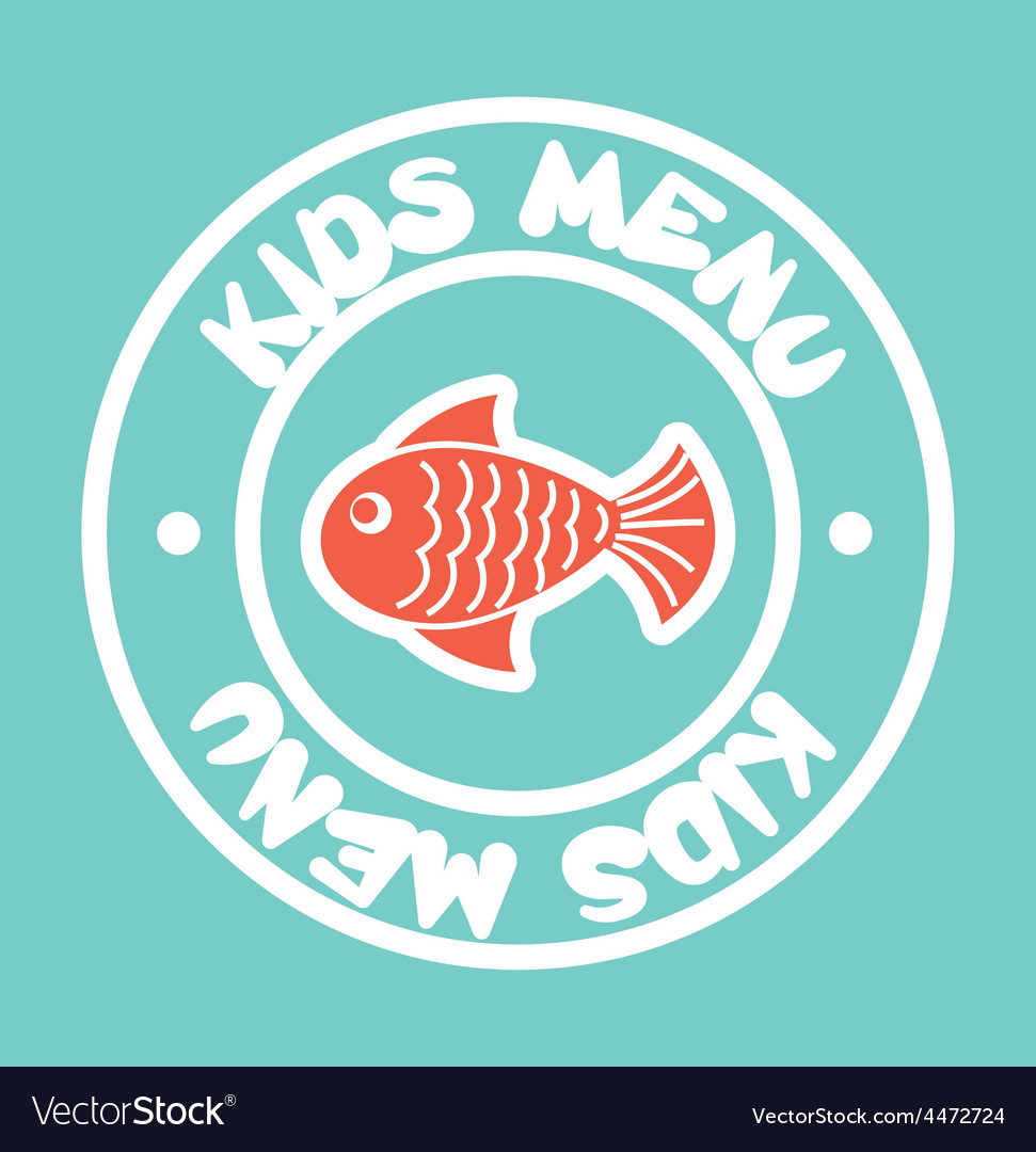 Kids menu vector | Price: 1 Credit (USD $1)