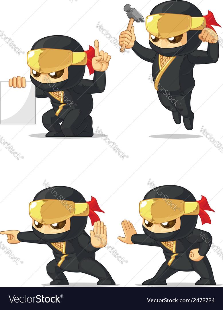 Ninja customizable mascot 4 vector | Price: 1 Credit (USD $1)