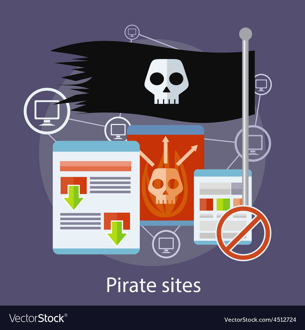 Pirate sites concept vector | Price: 1 Credit (USD $1)