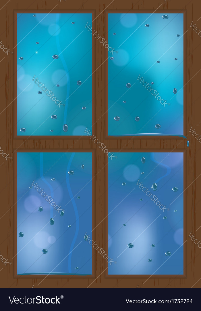 Rainy window vector | Price: 1 Credit (USD $1)