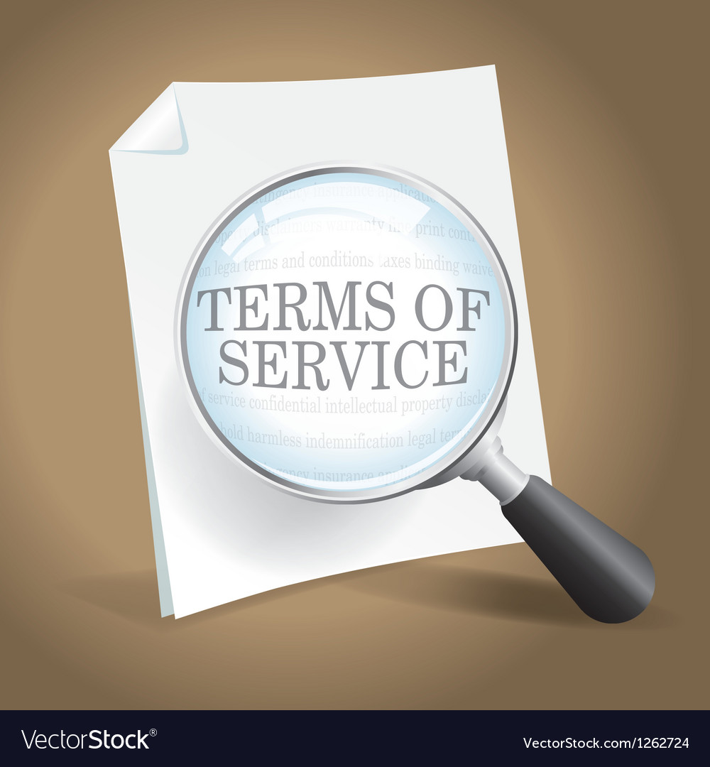 Reviewing terms of service vector | Price: 1 Credit (USD $1)
