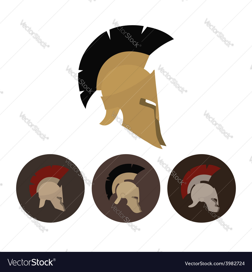 Set of four antique helmets vector | Price: 1 Credit (USD $1)