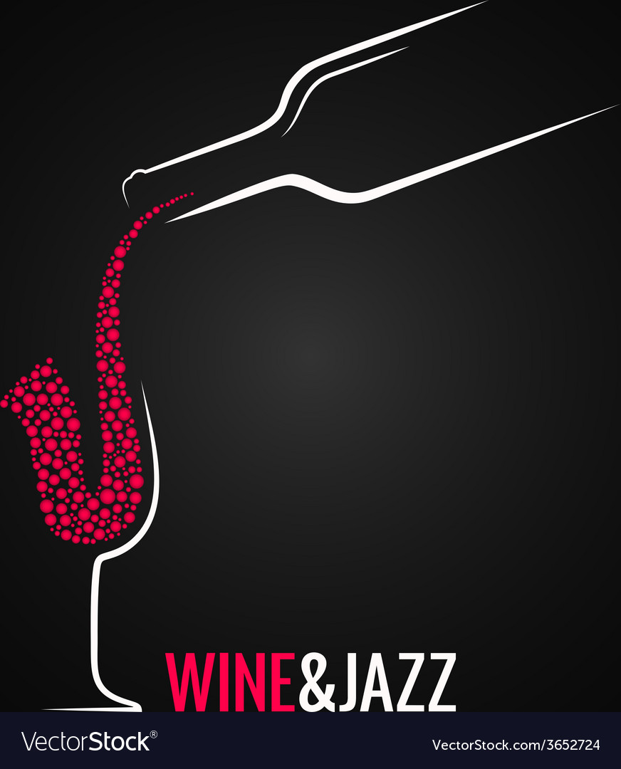 Wine and jazz concept design background vector | Price: 1 Credit (USD $1)