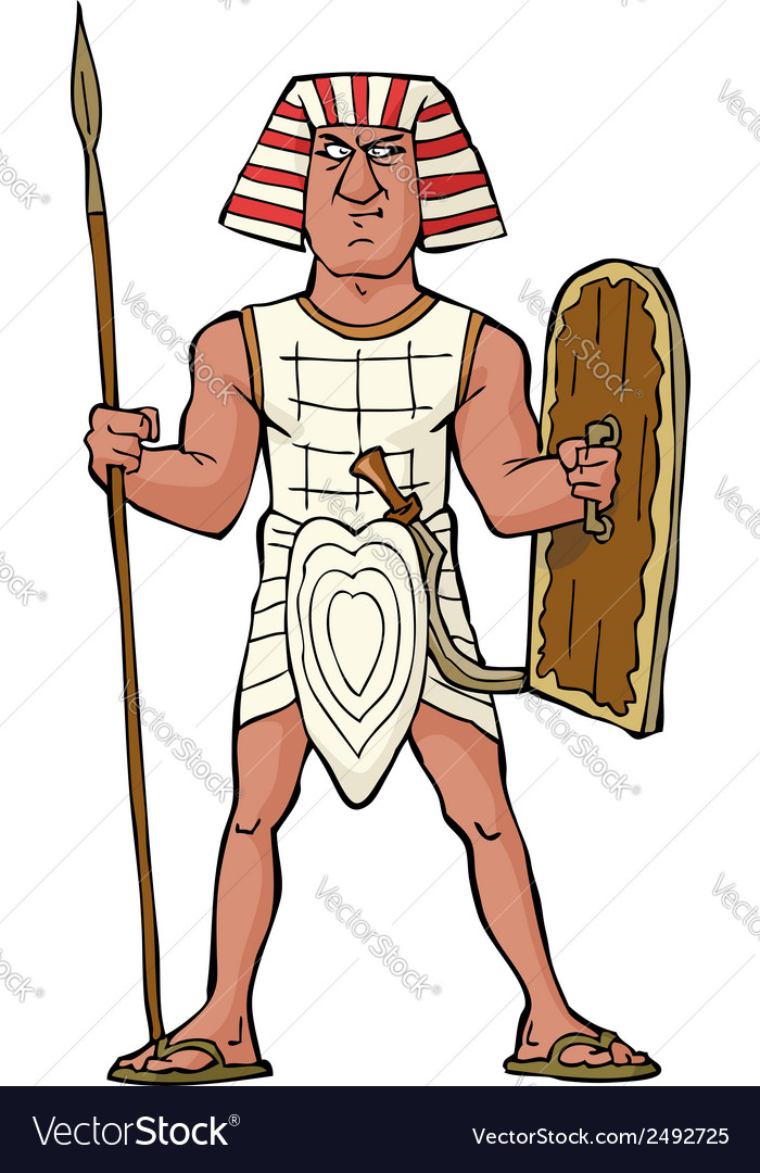 Ancient egyptian warrior vector | Price: 1 Credit (USD $1)