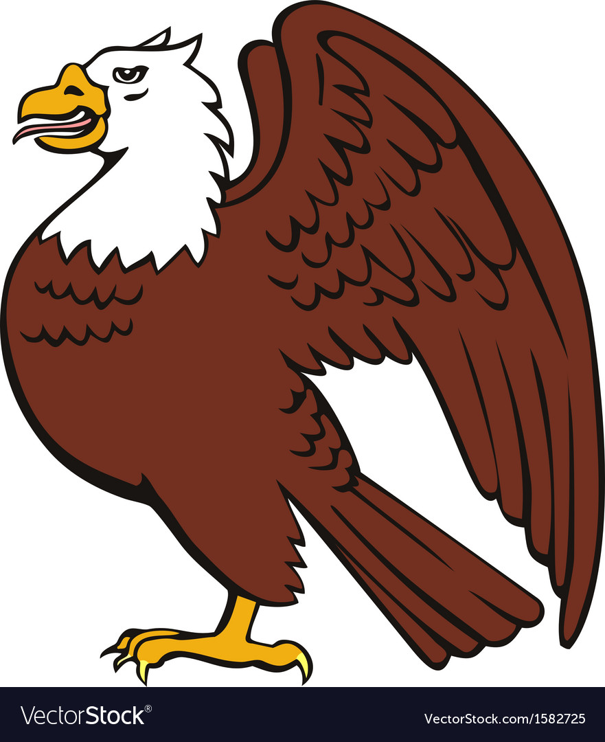 Bald eagle retro vector