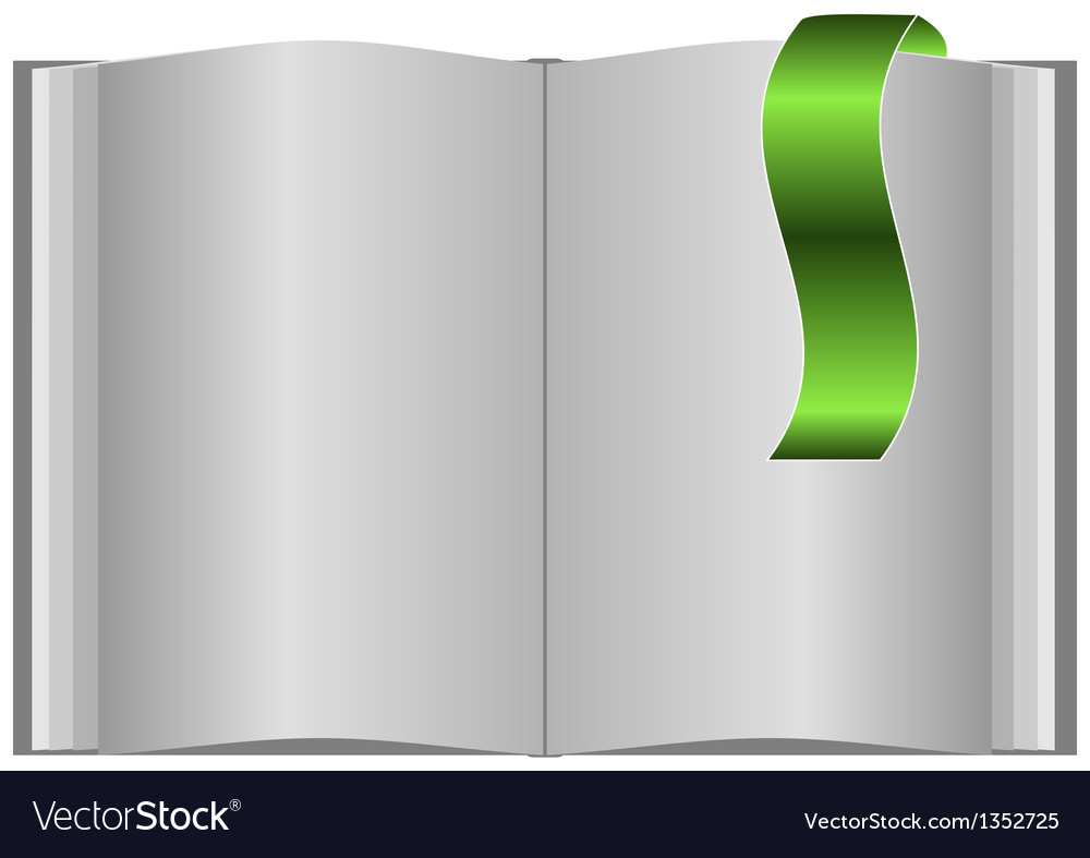 Book with bookmarks vector | Price: 1 Credit (USD $1)