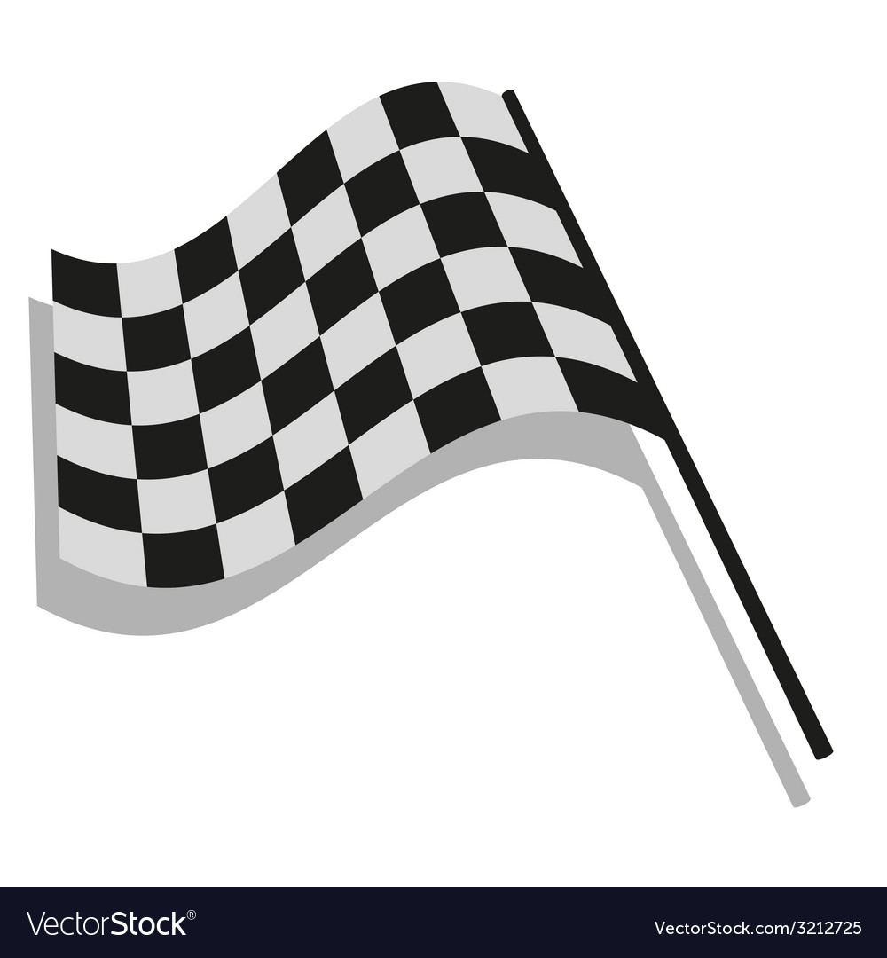 Checkered flag racing vector | Price: 1 Credit (USD $1)
