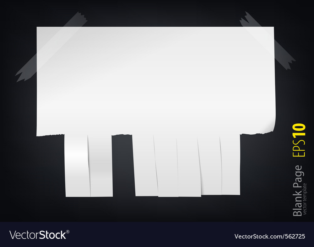 Clean sheet of paper with the edge of the slit int vector | Price: 1 Credit (USD $1)