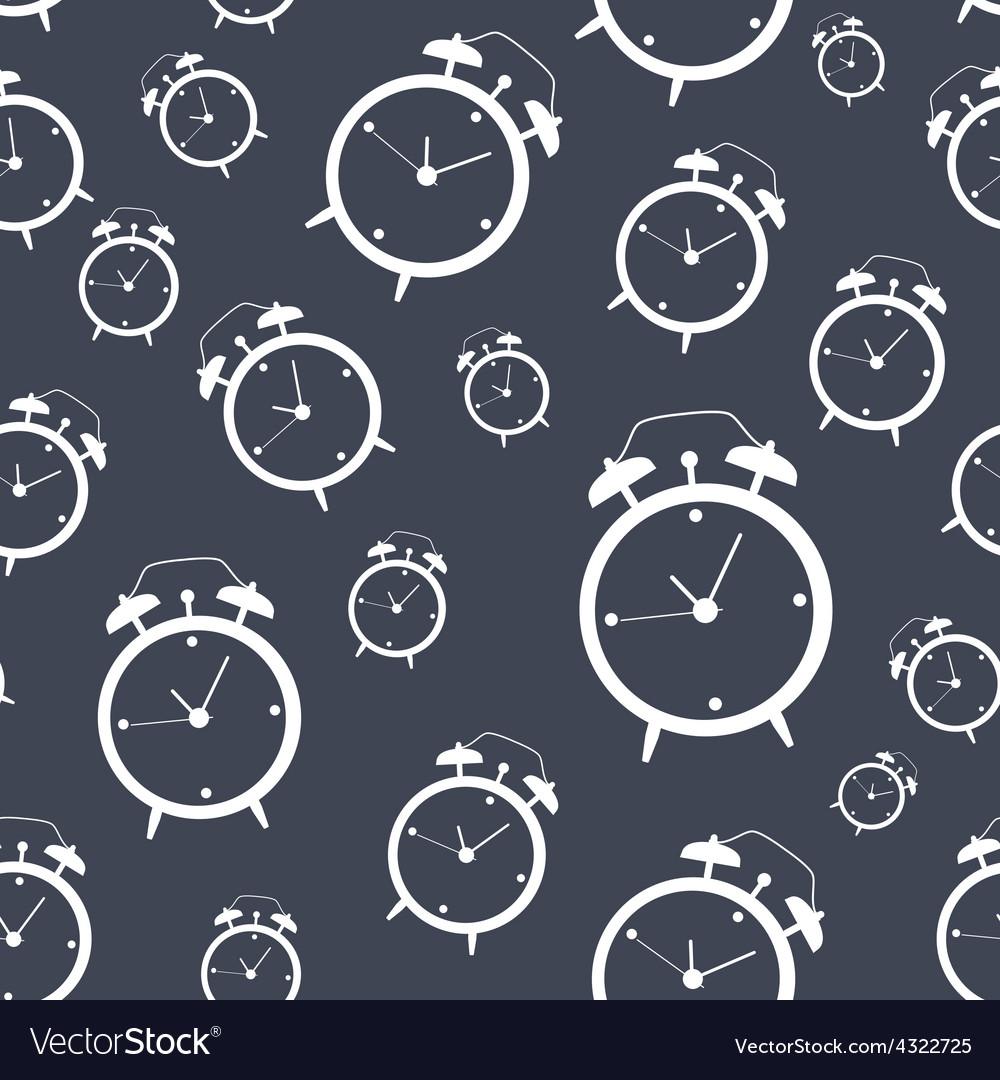 Clock alarm icon seamless vector   Price: 1 Credit (USD $1)
