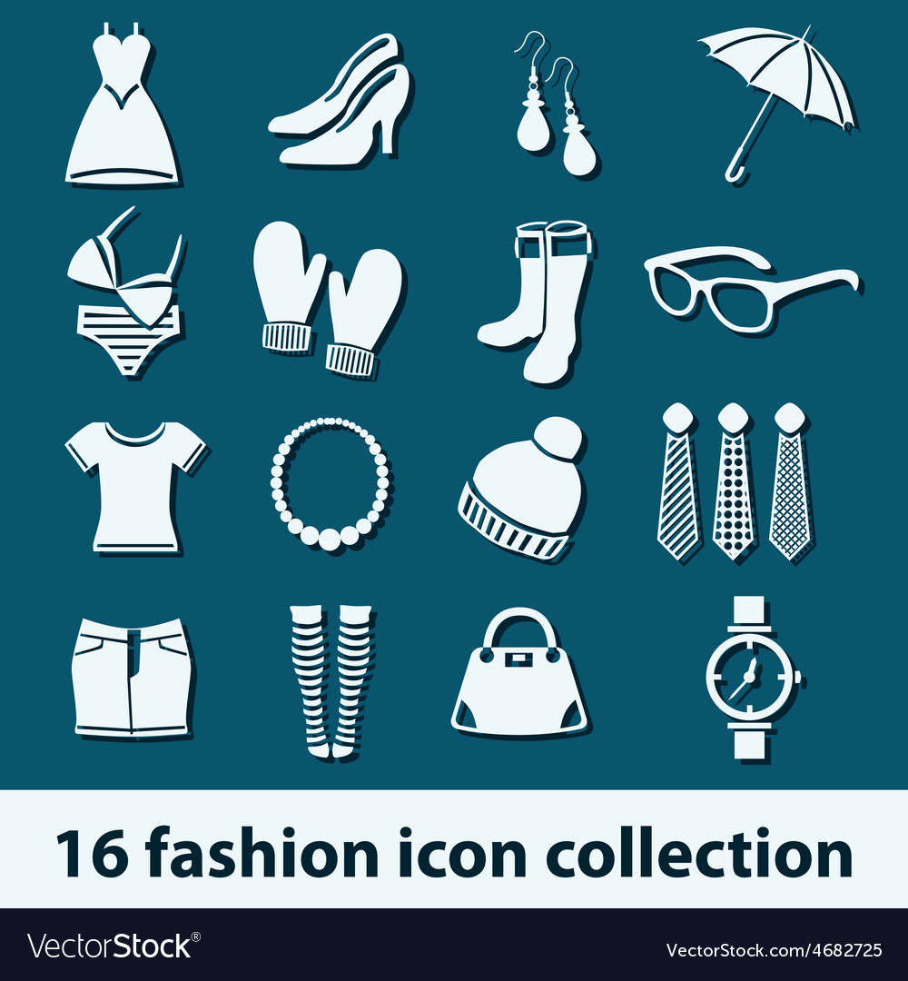 Fashion icons vector | Price: 1 Credit (USD $1)